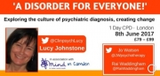 'A Disorder for Everyone!' - Exploring the culture of psychiatric diagnosis.