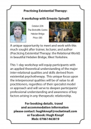 PRACTISING EXISTENTIAL PSYCHOTHERAPY  A One-Day Workshop Facilitated by Professor Ernesto Spinelli