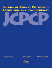 Journal of Critical Psychology, Counselling and Psychotherapy NO LONGER AVAILABLE
