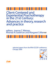 Client-Centered and Experiential Psychotherapy: Advances in theory, research and practice