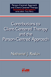 Contributions to Client-Centered Therapy and the Person-Centered Approach